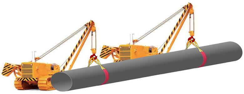Схема строповки на трубоукладчики