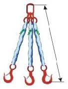 Трёхветвевой круглопрядный строп